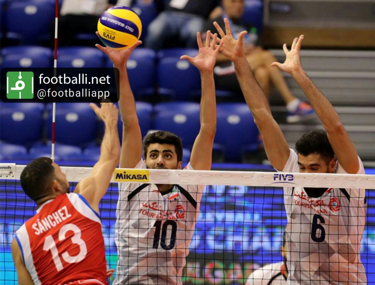 برد تیم ملی والیبال ایران در اولین دیدار