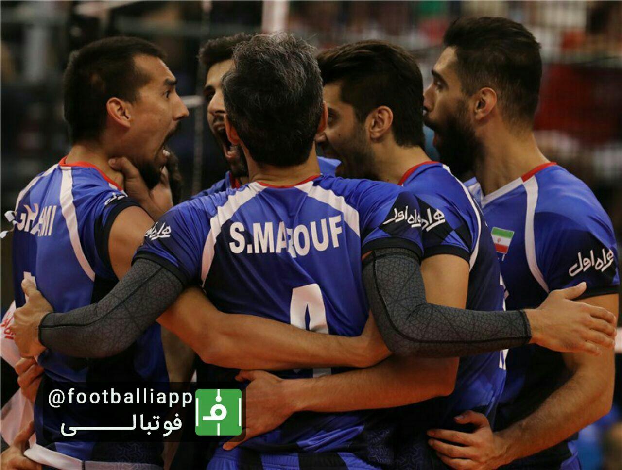 دومین برد تیم ملی والیبال ایران در مسابقات قهرمانی جهان