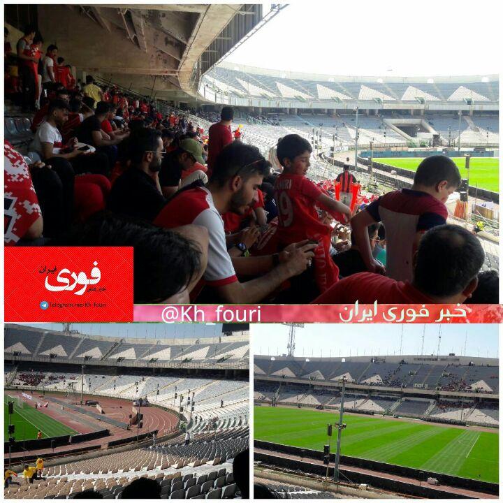 بازداشت چند دختر در هنگام ورود به استادیوم آزادی برای تماشای دربی