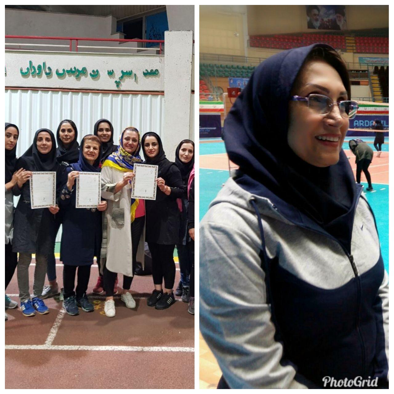 مقام چهارم استانی تیم آمادگی جسمانی لاهیجان