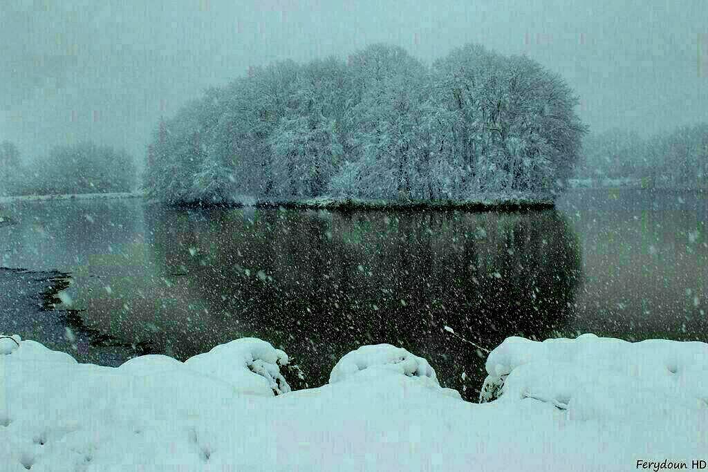 زمستان-لاهیجان-سوستان-آب بند 📸قاسم علیپور