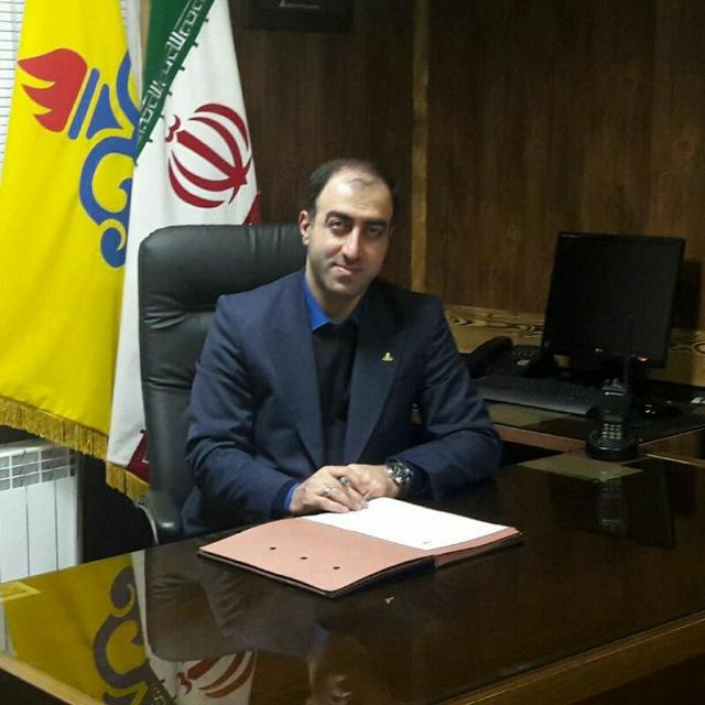 تبریک رضا حیدرنژاد ریاست اداره گاز شهرستان لاهیجان به مناسبت فرارسیدن سال نو
