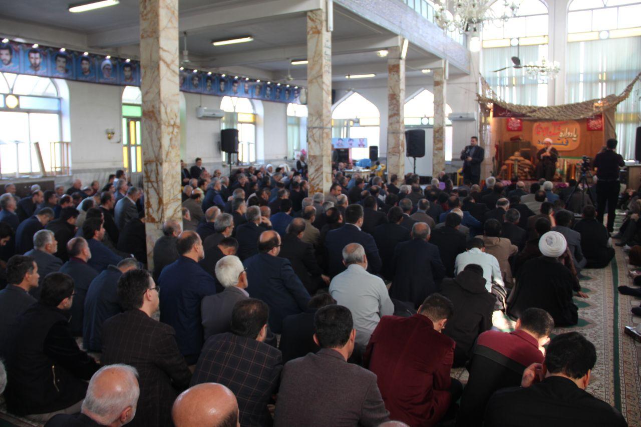 برگزاری مراسم یادبود شهدای والامقام روستای فتیده در بخش مرکزی لنگرود