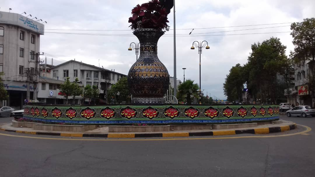 شهر لاهیجان همزمان با آغاز محرم سیاه پوش شد