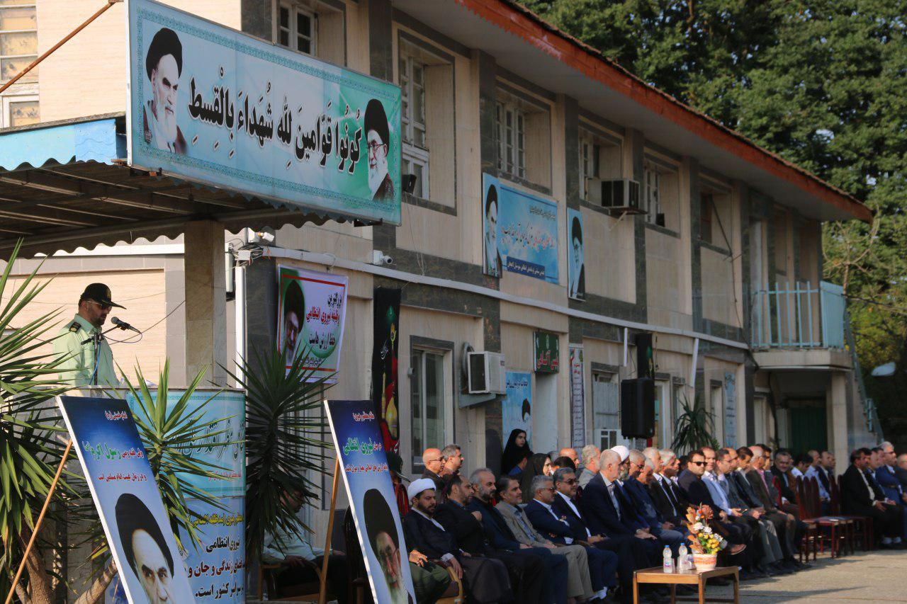 گزارش تصویری حضور شهردار، رییس و اعضای شورای اسلامی شهر لاهیجان در مراسم صبحگاه مشترک به مناسبت هفته نیروی انتظامی