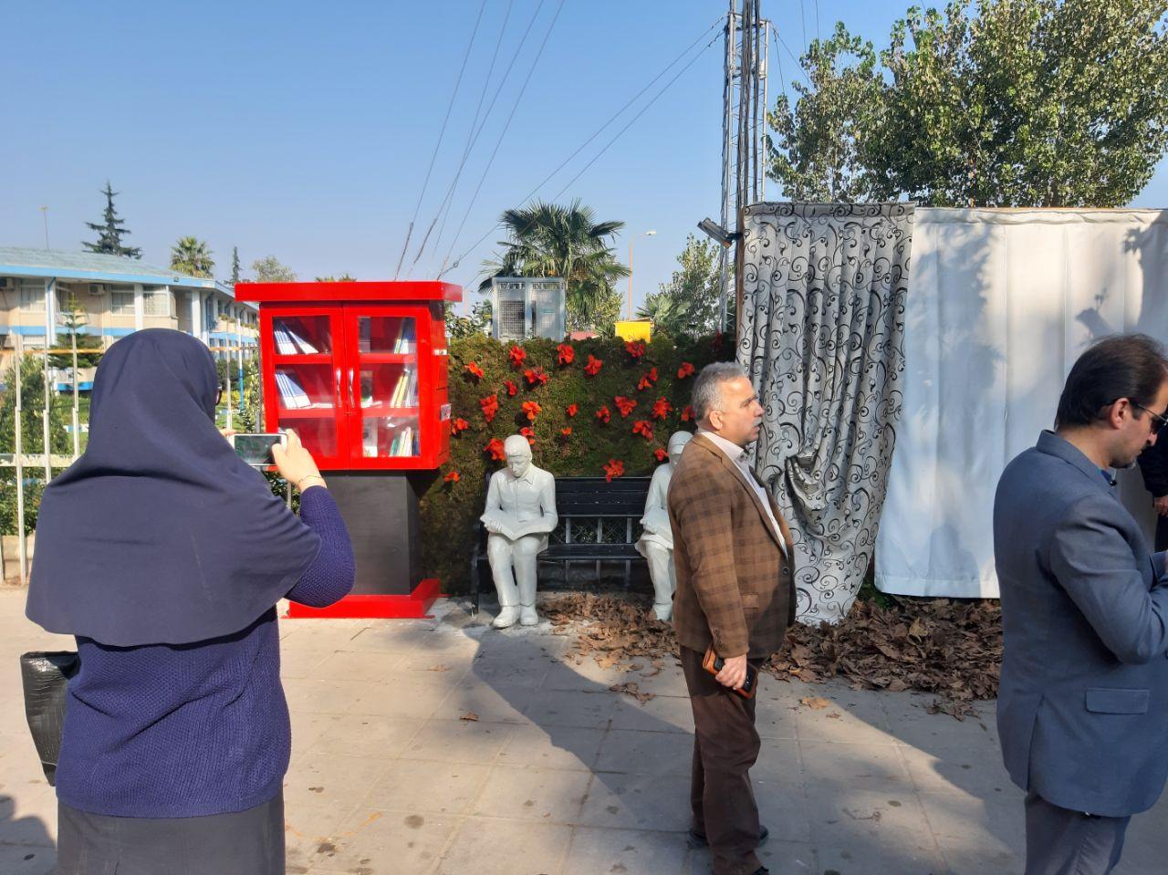 افتتاح المان کتاب شهرستان لاهیجان توسط فرماندار شهرستان لاهیجان
