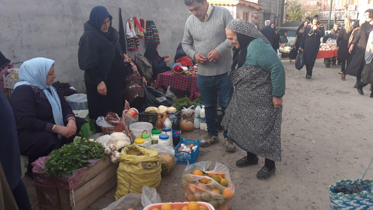 گزارش تصویری گالش بازار سیاهکل 📷قاسم علیپور
