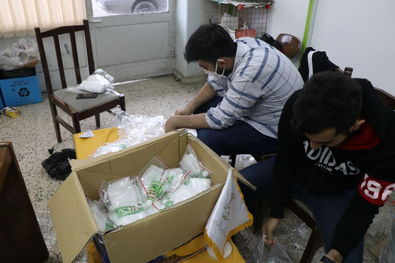 توزیع ۱۰۰۰بسته بهداشتی بین ۱۰۰۰خانواده در مناطق محروم شهرستان رشت