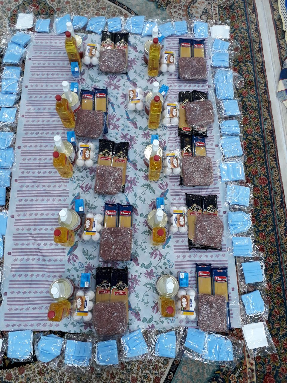 تهیه بسته حمایتی و اهدایی به خانواده های نیازمند به مناسبت میلاد امام زمان عج الله در آستانه اشرفیه